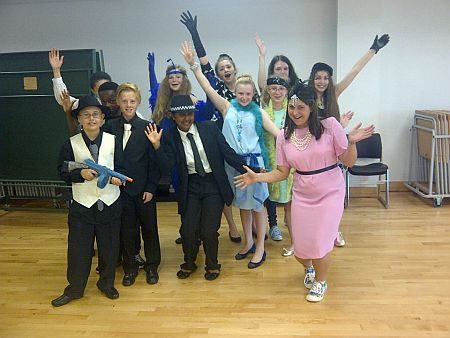 Dressing up at Helen O Grady Drama Clubs in South East London