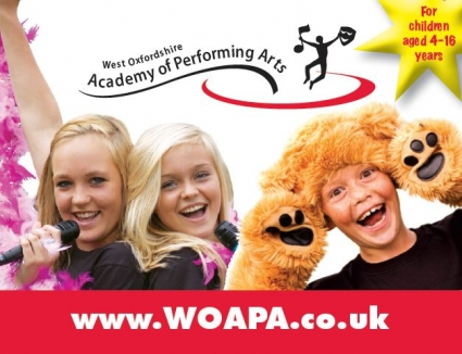 A Performing Arts Academy - 'WOAPA' - West Oxfordshire Academy of Performing Arts logo