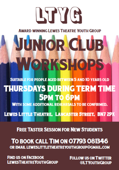 LTYG Junior Club at Lewes Little Theatre