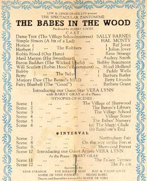 The Babes in the Wood cast