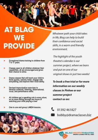 Blag Youth acting classes