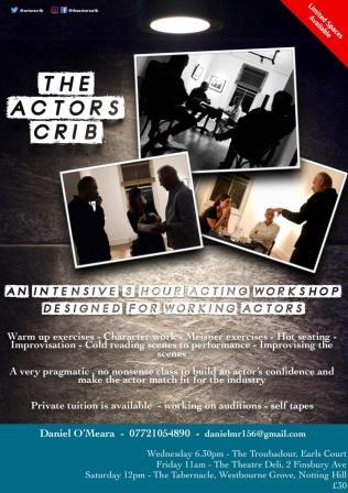 Actors Crib London | Acting workshops for Actors London. Liverpool Street, Earls Court and Notting Hill, logo